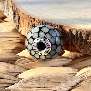 Pandora bead with Sterling Silver detail
